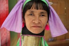 Allemachtig bijzondere Padaung vrouwen Thailand met kinderen