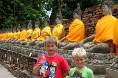 Ayutthaya op de foto Thailand met kinderen