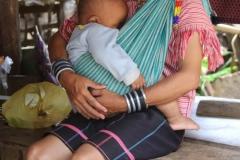 Bergvolkeren Thailand met kinderen
