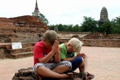 Bidden Ayutthaya Thailand met kinderen