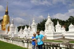 Chang Mai tempel Thailand met kinderen