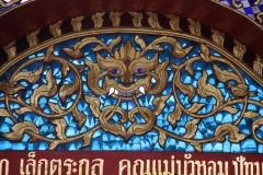 Details tempel Thailand met kinderen