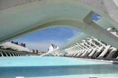 Detail Calatrava Valencia met kinderen