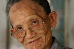 Vietnam aandoenlijk oude monnik Nha Trang