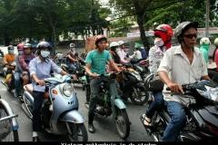 Vietnam gekkenhuis in de steden