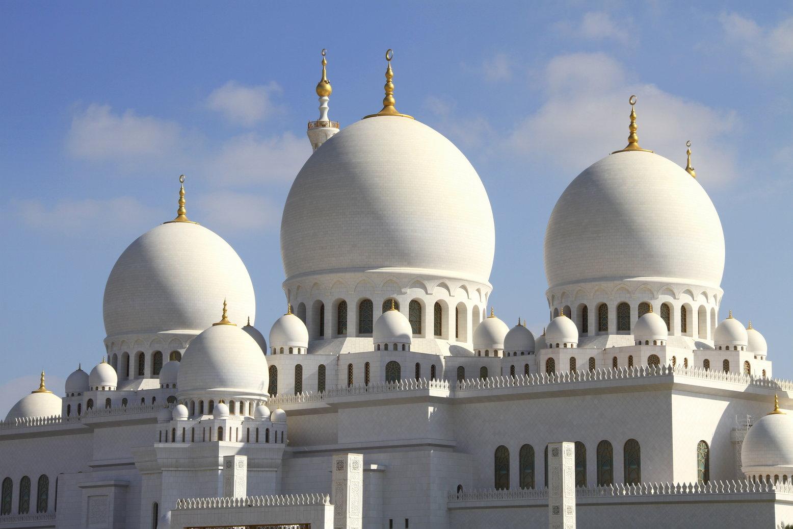 Abu Dhabi sjeikh Zayed moskee met kinderen