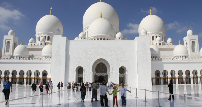 Abu Dhabi Sjeikh Zajed mosque Abu Dhabi