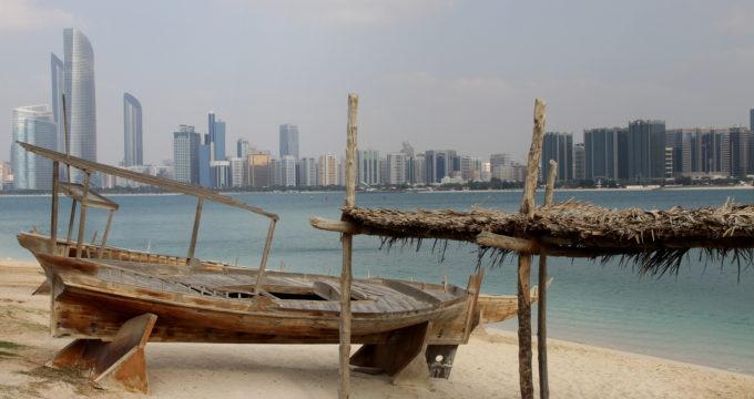 Abu Dhabi stad met kinderen