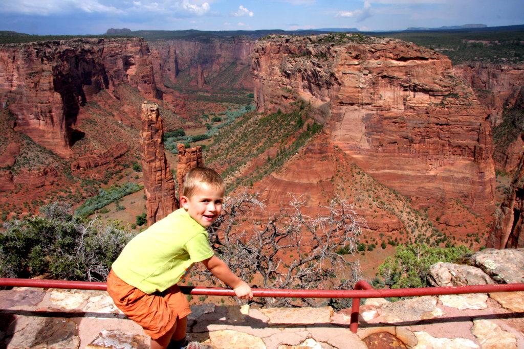 Canyon de Chelly Amerika met kinderen reisfoto's