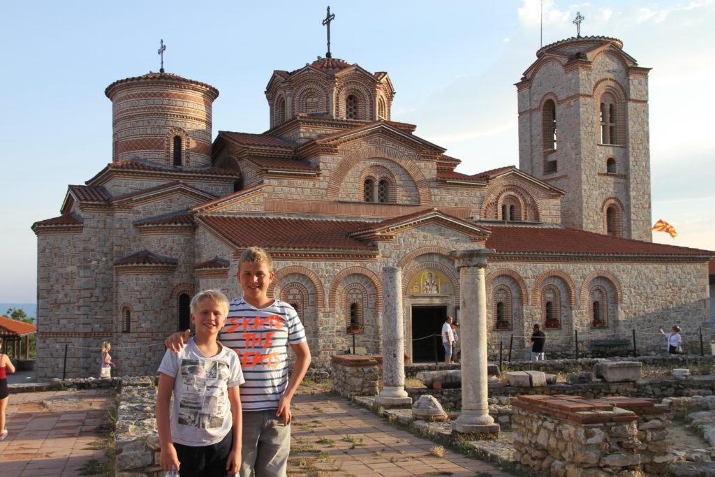 Ohrid Macedonië met kinderen reisfoto's