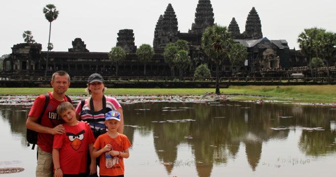 Angkor Wat cambodja met kinderen foto album