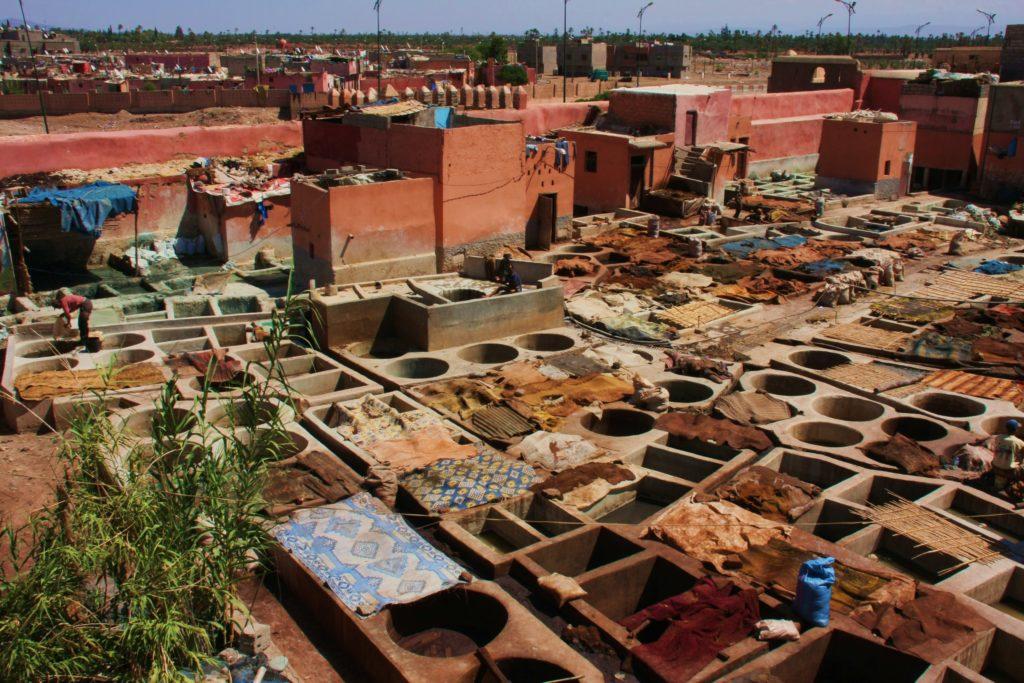 Marrakech leerlooierij met kinderen