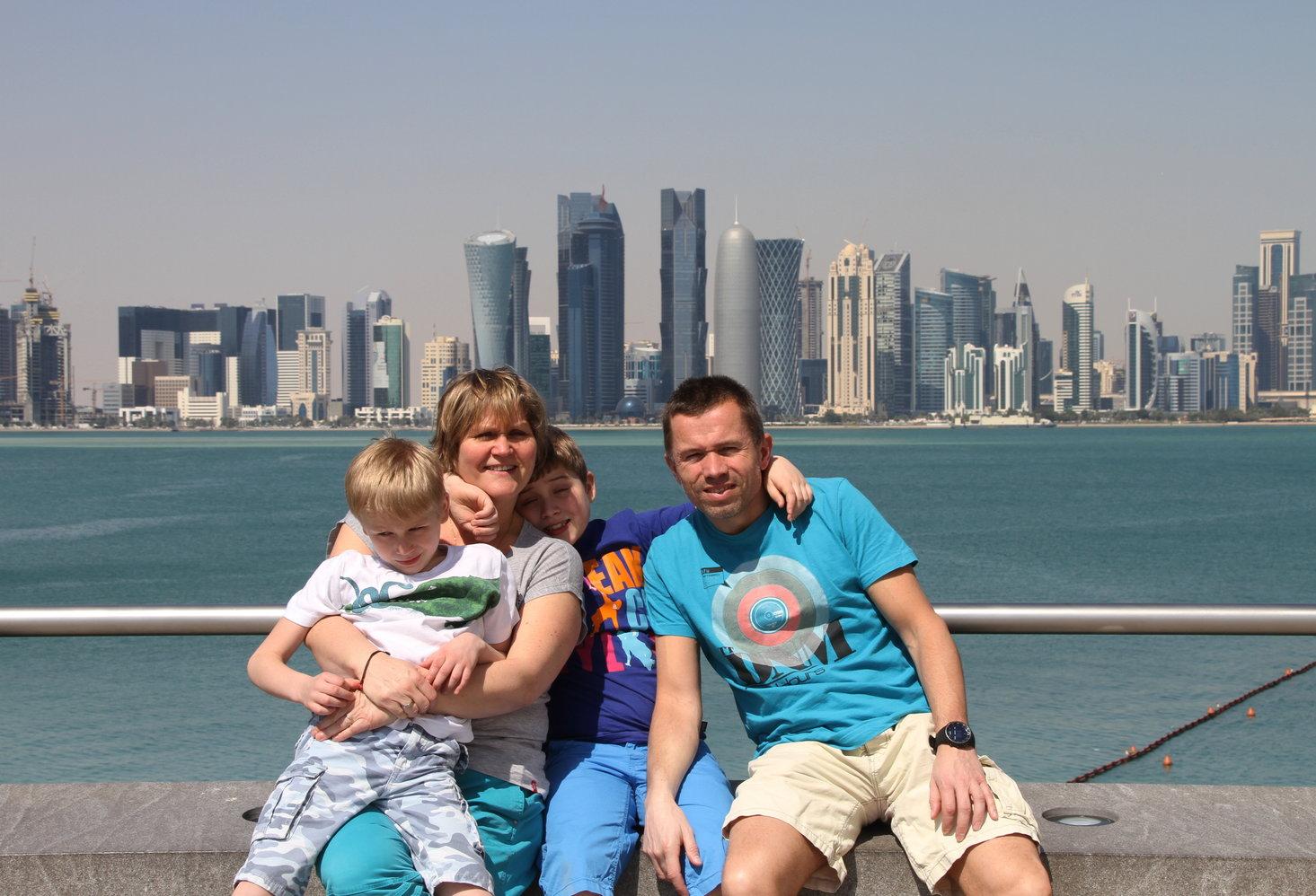 Doha Qatar met kinderen