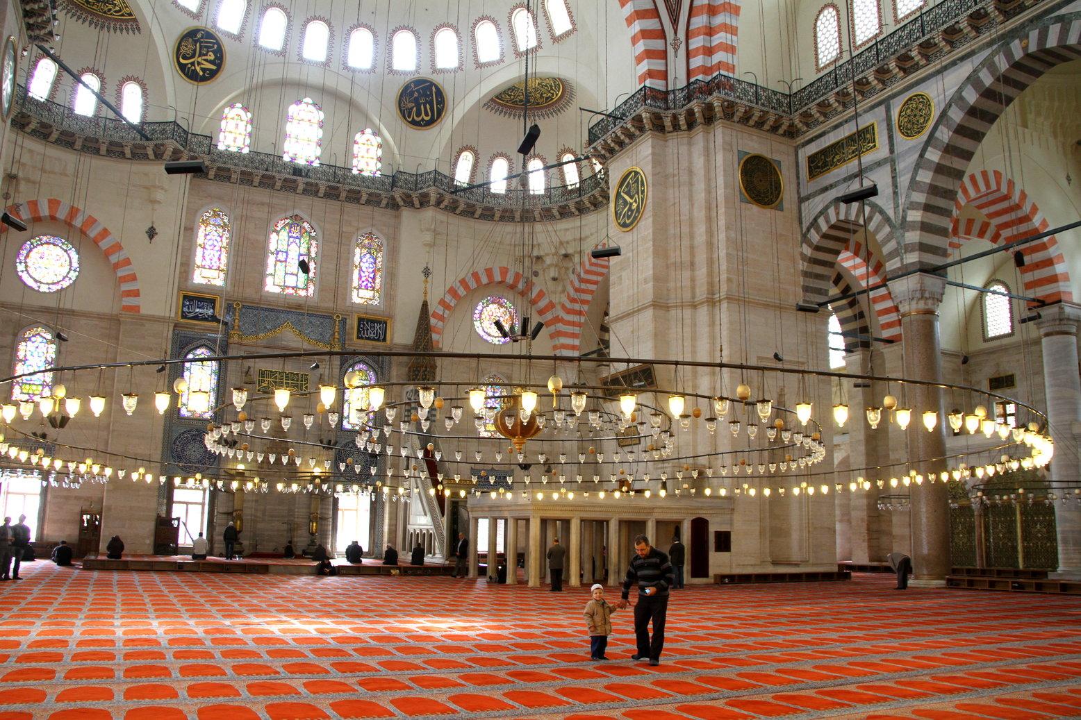 Blauwe moskee Istanbul met kinderen