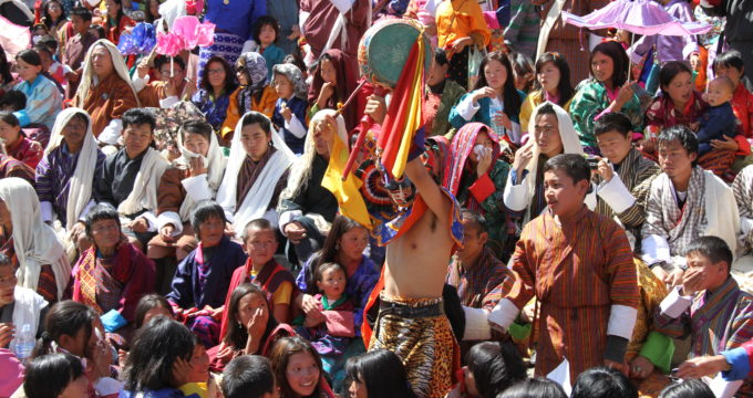Bhutan met kinderen reisfoto's
