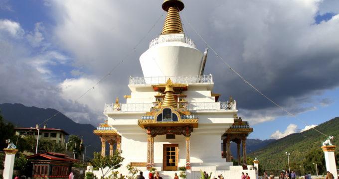 Thimphu Bhutan met kinderen
