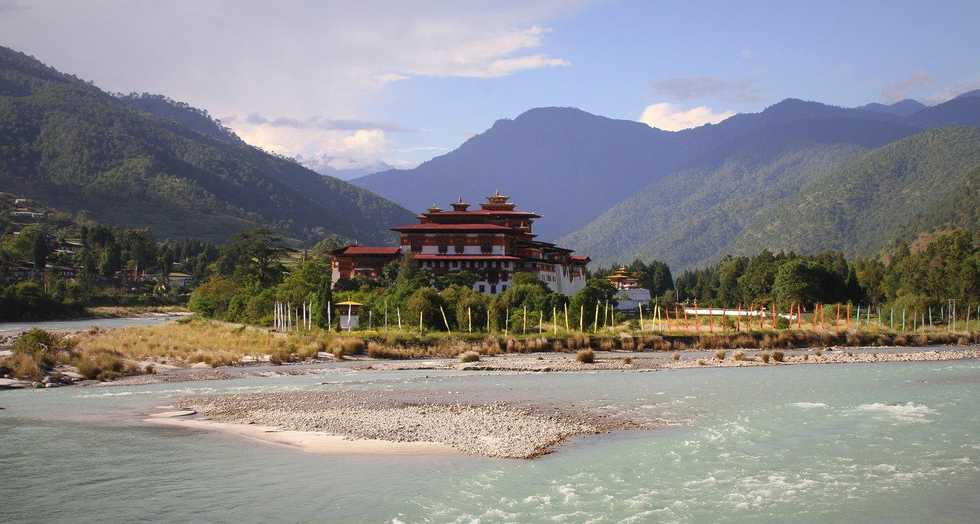 Punakha Bhutan met kinderen