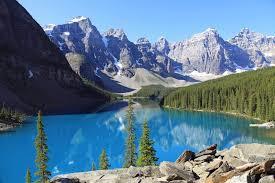Canada met kinderen Morraine lake