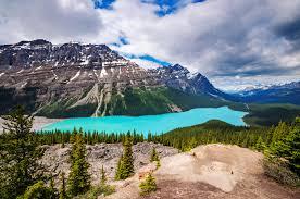 Canada met kinderen Peyto lake