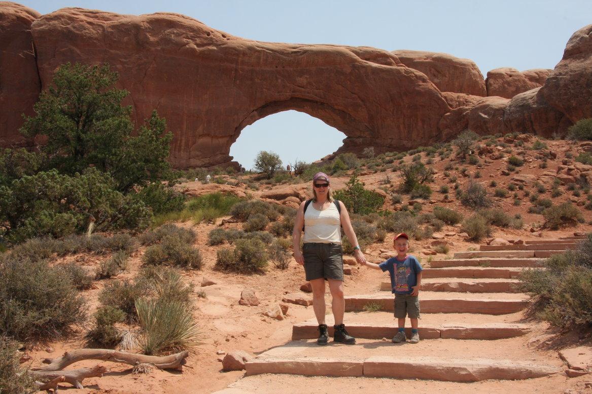 Amerika met kinderen Arches nationaal park