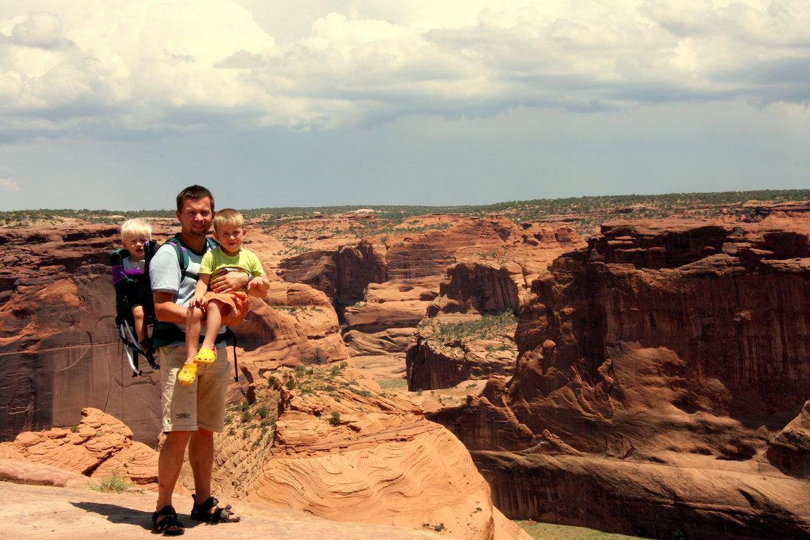 Canyon de Chelly Amerika met kinderen