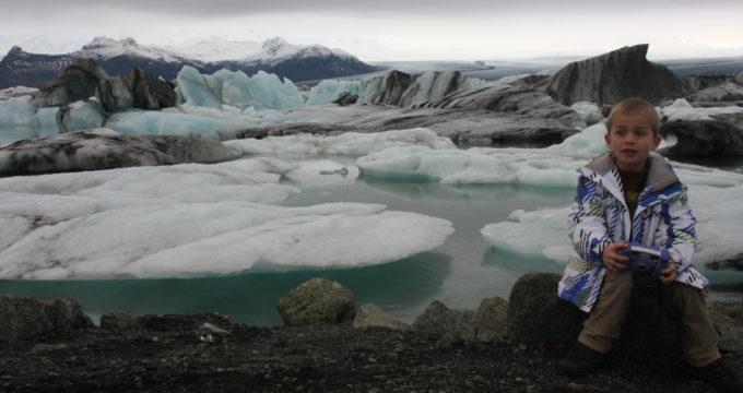 Jokulsarlon ijsland met kinderen reisfoto