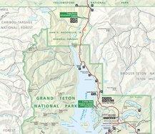 Kaart Grand Teton