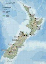 Nieuw Zeeland kaart
