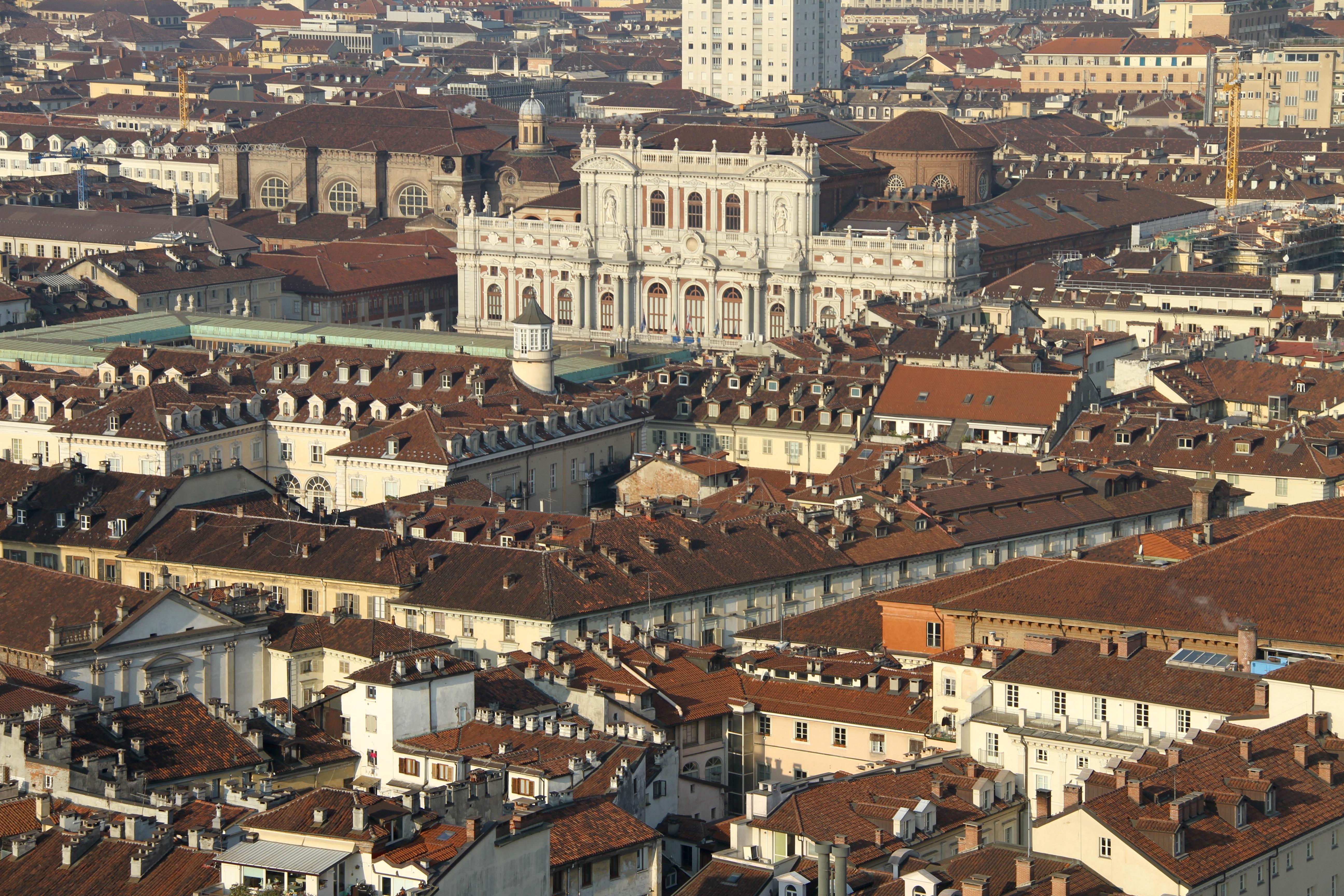 Uitzicht vanaf Mole Antonelliana Turijn met kinderen