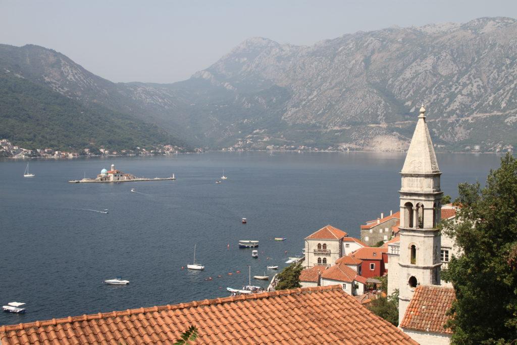 Perast aan de baai van Kotor Montenegro