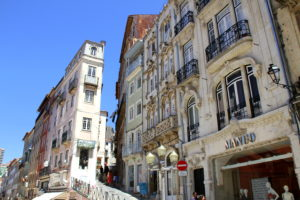 Mooie straatjes Coimbra Noord Portugal