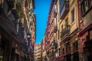 Bilbao casco Vieja met kinderen