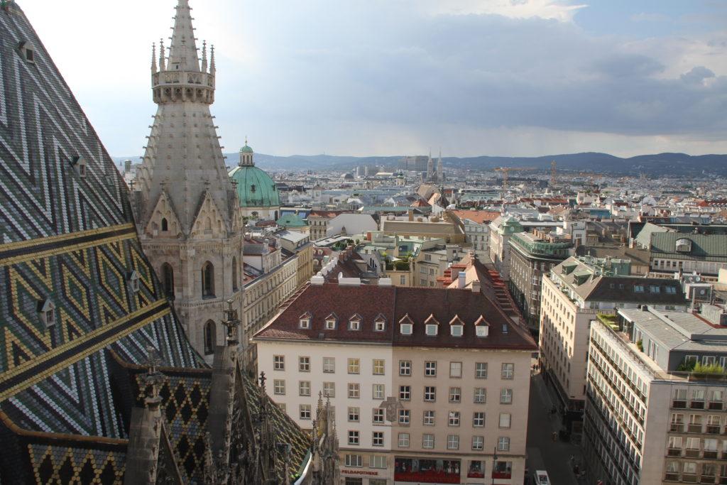 Uitzicht vanaf Stephans dom Wenen met kinderen