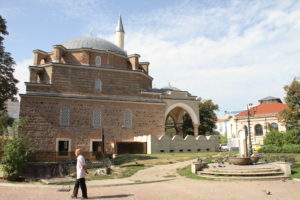 Grote moskee Sofia Bulgarije met kinderen