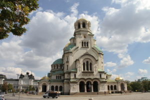 Nevski kathedraal Sofia Bulgarije met kinderen