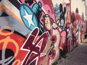Street art Lissabon met kinderen