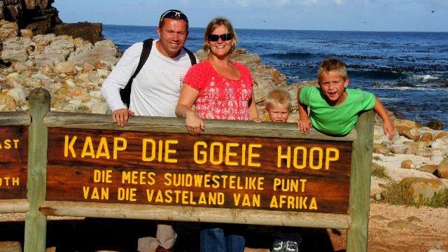 Kaap de goede hoop Zuid Afrika met kinderen